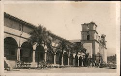 Old Mission Santa Barbara Quake 6-29-05 Postcard