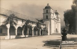 The Old Mission, fountain Postcard