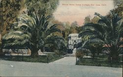 Shrine Notre Dame College, San Jose, Calif. Postcard