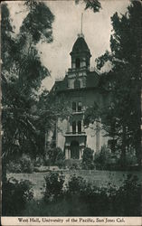West Hall, University of the Pacific Postcard