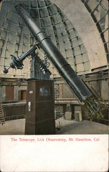 The Telescope, Lick Observatory, Mt. Hamilton Postcard