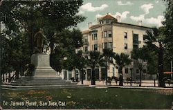 St James Hotel Postcard