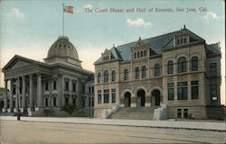 The Court House and Hall of Records Postcard