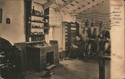 Shoemaker Shop, Mission Santa Barbara Postcard