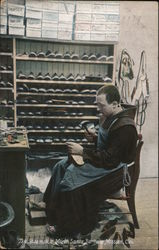 The Shoemaker Monk, Santa Barbara Mission Postcard