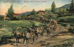 Freight Teams Hauling the Bartlett Water Postcard