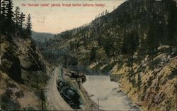 "The ""Overland Limited"" Passing Through Beautiful California Scenery Postcard"