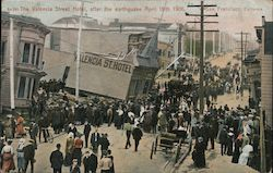 The Valencia Street Hotel After the Earthquake April 18th 1906 Postcard