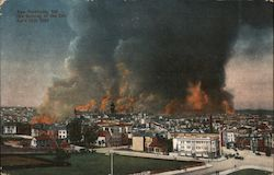 The Burning of the City, April 18th, 1906 Postcard