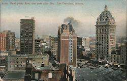 News-paper Row, One Year After Fire Postcard