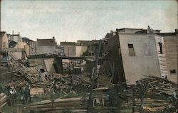 Wrecked Homes, Ninth Street Postcard