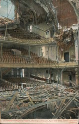 Interior of Majestic Theatre, After the Earthquake Postcard