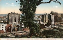 Reconstruction Days - View from Nob Hill toward Montgomery Street Postcard