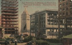 San Francisco, California, on Road of a Thousand Wonders. Reconstruction Work. Postcard