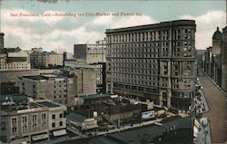 San Francisco, Calif. - Rebuilding the City - Market and Powell Sts. Postcard