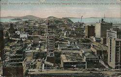 Panorama of San Francisco Showing Telegraph Hill and Kearney Street Postcard