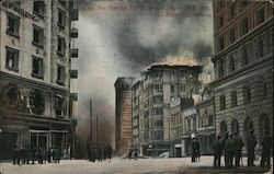 The fire on 3rd St. 9 am April 18, 1906 Postcard