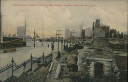 Looking Down California St. From Makr Hopkins Institute Postcard