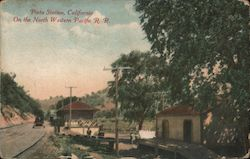 Pieta Station on the Northwestern Pacific Railroad Postcard