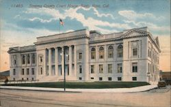 Sonoma County Court House Postcard