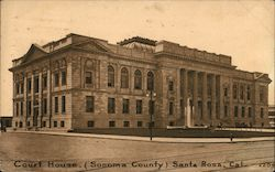 Court House, (Sonoma County) Postcard
