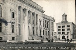 Court House and Santa Rosa Postcard