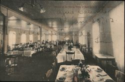 Interior of the Dining Room, Agua Caliente Springs Hotel Postcard