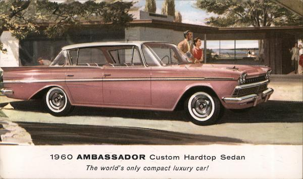 1960 Ambassador custom hardtop sedan Cars
