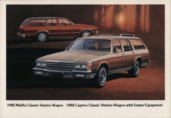 1982 Malibu Classic Station Wagon - 1982 Caprice Classic Station Wagon with Estate Equipment