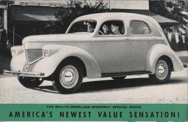 An Invitation. The Willys-Overland Speedway Special Sedan. America's newest Value Sensation!