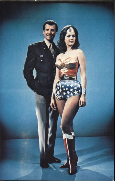 Lyle Waggoner and Lynda Carter Wonder Woman Movie and Television Advertising