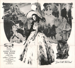 Set of 6: Gone with the Wind 50th Anniversary Installment Set Postcard