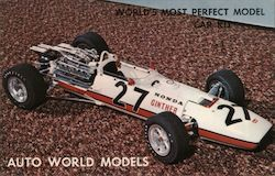 Auto World Models. World's most perfect model car kit. 1/12 identical scale Honda Ginther #27 Postcard