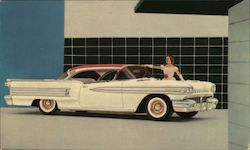 Oldsmobile Ninety-Eight Holiday Coupe Postcard