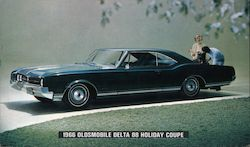 1966 Oldsmobile Delta 88 Holiday Coupe Postcard
