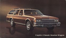 Caprice Classic Station Wagon Postcard