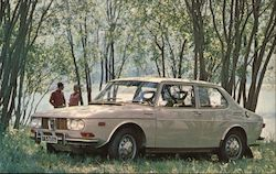 Saab 99 - The Well-Built Swede Postcard