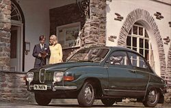 Saab 96 - The Well Built Swede Postcard