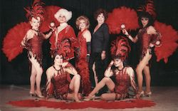 Finocchio's House of the Fabulous Female Impersonators. Red and black themed outfits Postcard