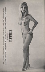 Pierre's presents Topless College Coeds. Thoroughly naked Millie Postcard