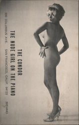 The Condor; The Nude Girl On The Piano Postcard
