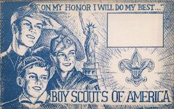 Boy Scouts of America, Second National Jamoree June 30, 1950 Postcard
