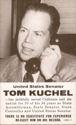 Tom Kuchel, United States Senator. Re-elect Postcard