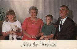 Norman Kestner and family. State Assembly Candidate Postcard