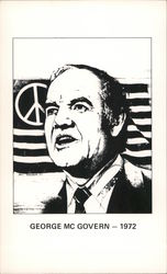 George McGovern 1972 peace flag Postcard