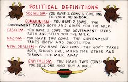 Political Definitions using cows Postcard
