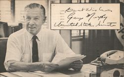 Best Wishes George Murphy United States Senator. Re-election Postcard
