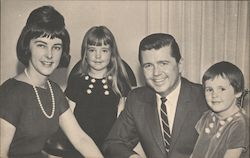 Charlie Farrington and family. Republican running for Congress 29th District Postcard