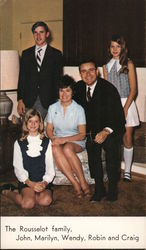 John Rousselot and family, Congress re-election Postcard