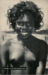 A happy 13-year old aboriginal Girl Postcard